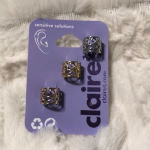 Set of 3 Cartilage Ear Cuffs